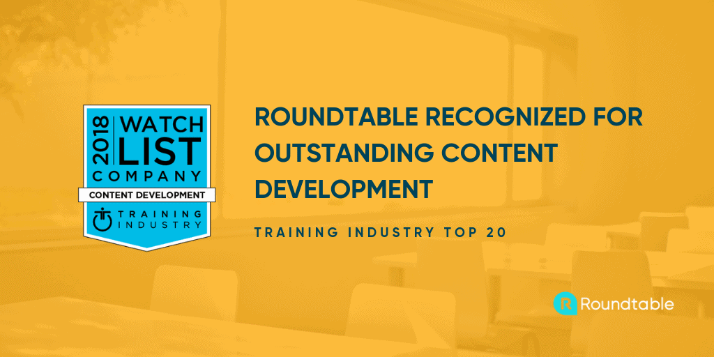 Roundtable recognized for outstanding content development