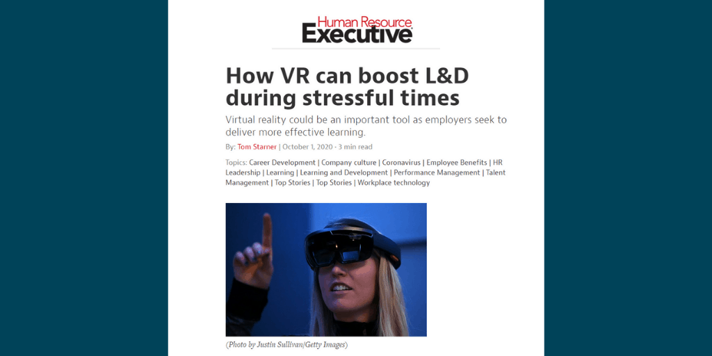 How VR Can Boost L&D During Stressful Times