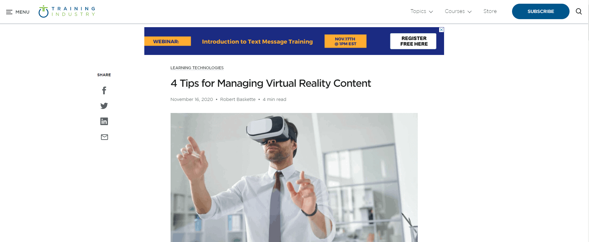 4 Tips for Managing Virtual Reality Content