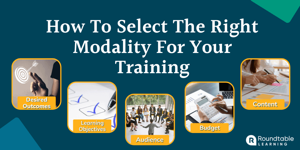 How To Select The Right Modality For Your Training: 5 Must-Ask Questions