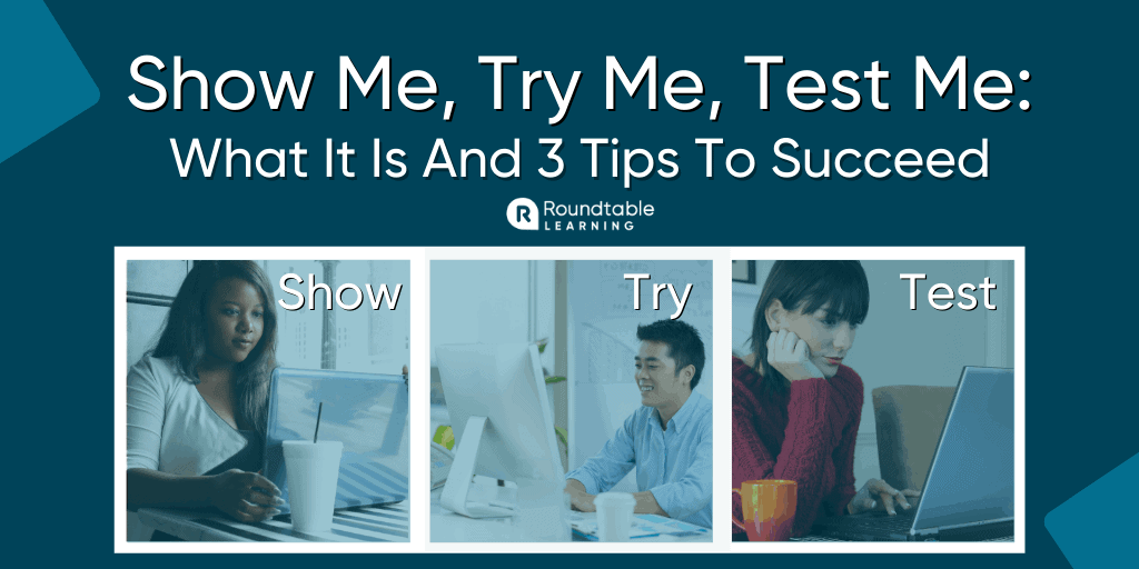 The Top eLearning Reinforcement Method: Show Me, Try Me, Test Me
