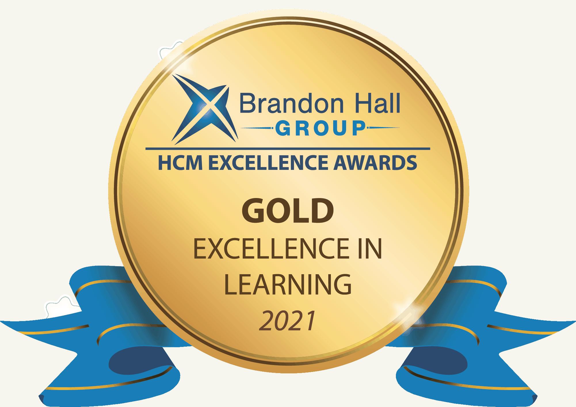 2021 Gold Brandon Hall Group – Blended Learning