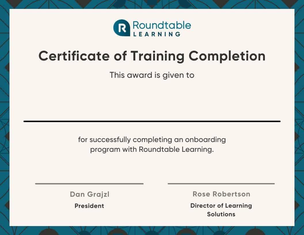 Custom Training Certificate